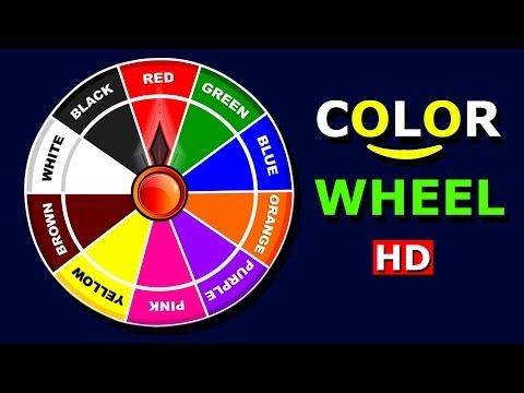Learn Colors With Color Wheel Chart Teach Colours Baby Children