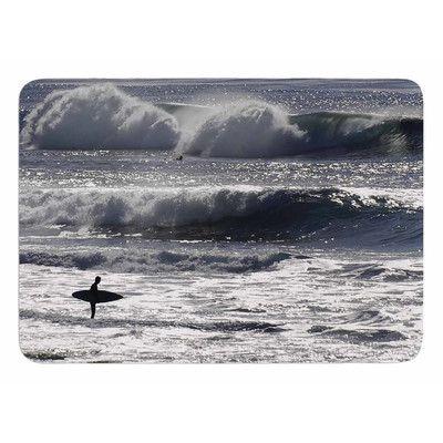 East Urban Home Lone Surfer by Nick Nareshni Bath Mat