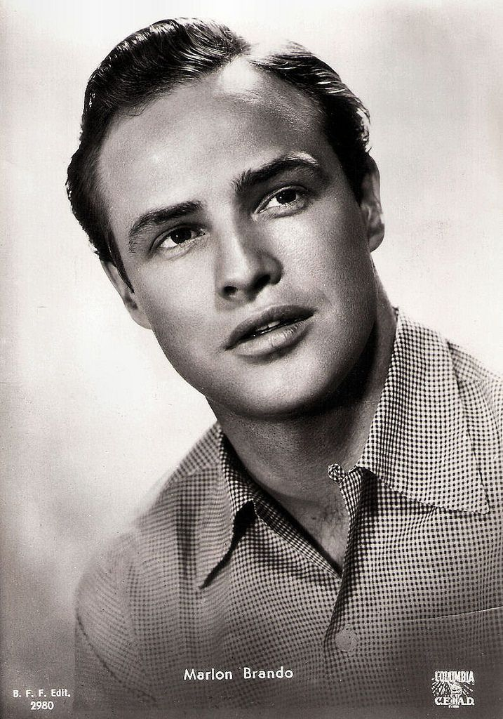 https://flic.kr/p/ELwkRf | Marlon Brando | Italian postcard by B.F.F. Edit., no. 2980. Photo: Columbia / C.E.I.A.D.  American film star Marlon Brando (1924-2004) was  one of the greatest and most influential actors of all time. A cultural icon, Brando is most famous for his Oscar-winning performances as Terry Malloy in On the Waterfront (Elia Kazan, 1954) and Vito Corleone in The Godfather (1972).