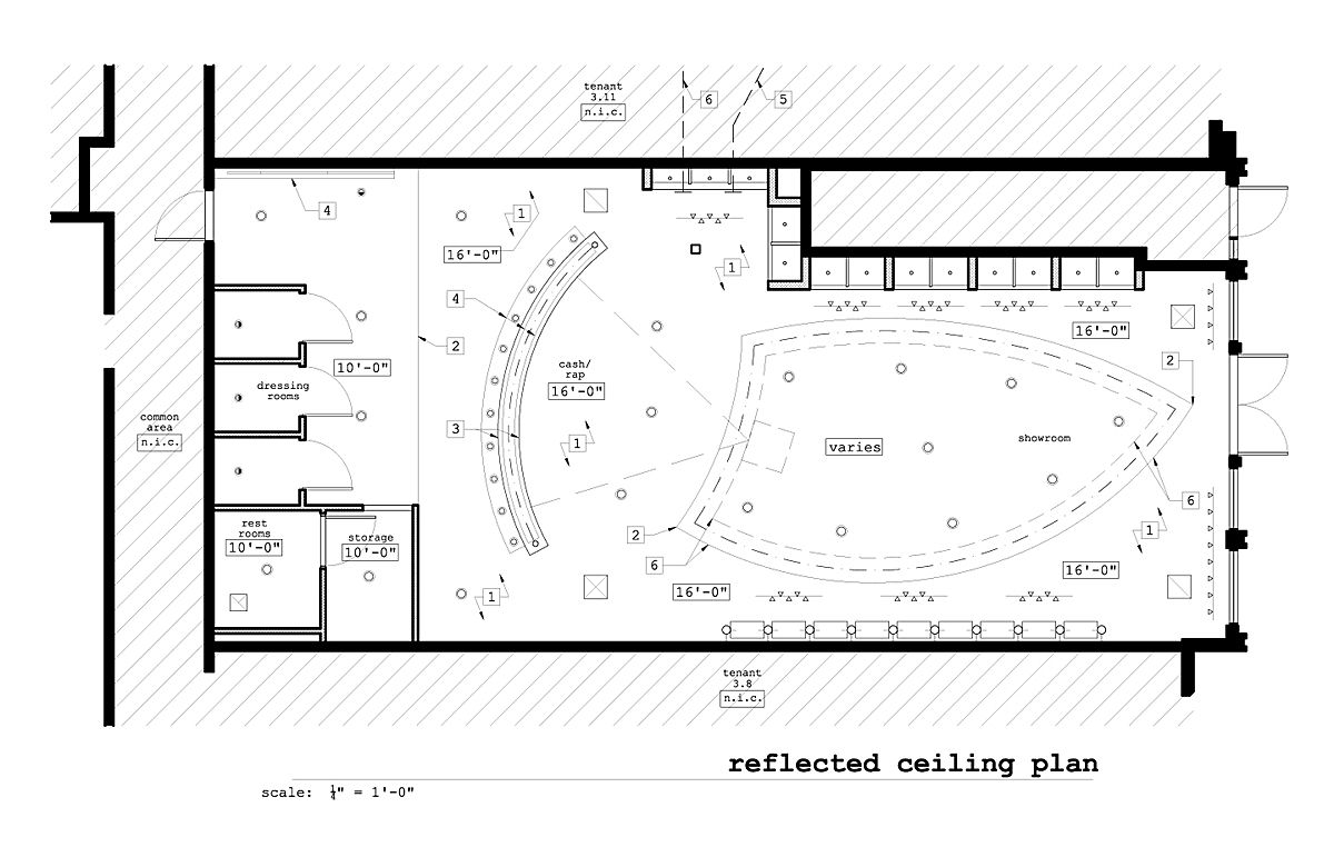 Reflected Ceiling Plan Ceiling Plan Lighting Design Interior How To Plan