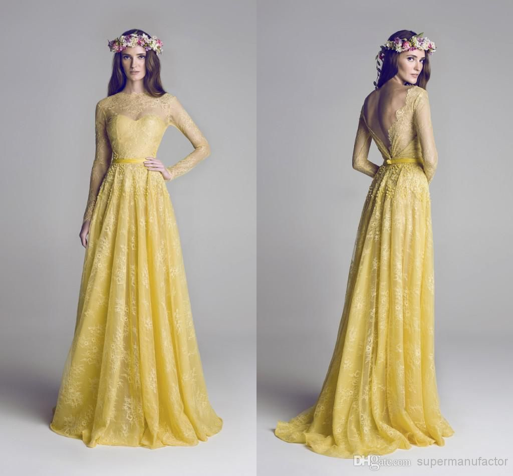 Cheap new yellow fashion high neck formal bridesmaid dresses with