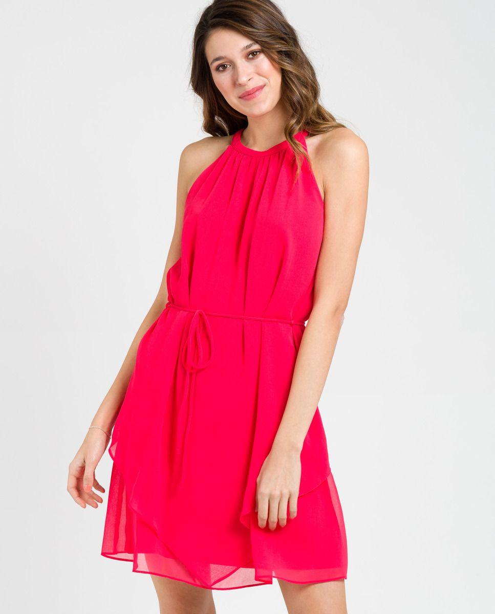 comprar online 5c0ab 9f447 Vestido de mujer Naf Naf sin mangas de cuello halter | Naf ...