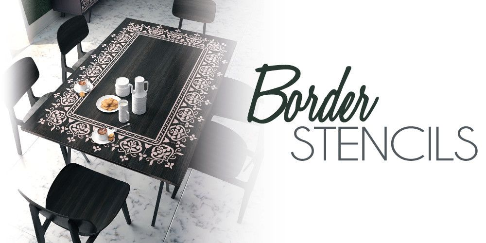 Border Stencils For Furniture And Wall Decor Home Ideas On Stencilslab