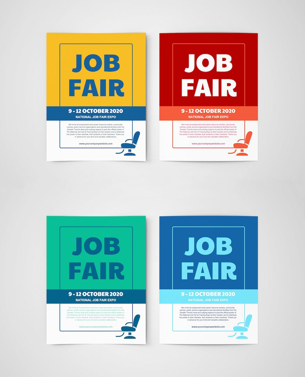 Makers Fair 2020.Job Fair Flyer Template Creative Posters Job Fair Flyer