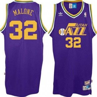 huge selection of 58287 ec00a Utah Jazz Karl Malone #32 Youth Adidas Throwback Swingman ...