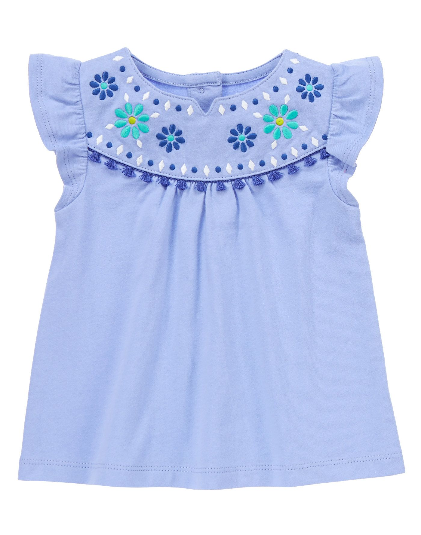 dfd7fcd304fb Embroidered Tassel Top at Gymboree Collection Name  Safari Smiles ...