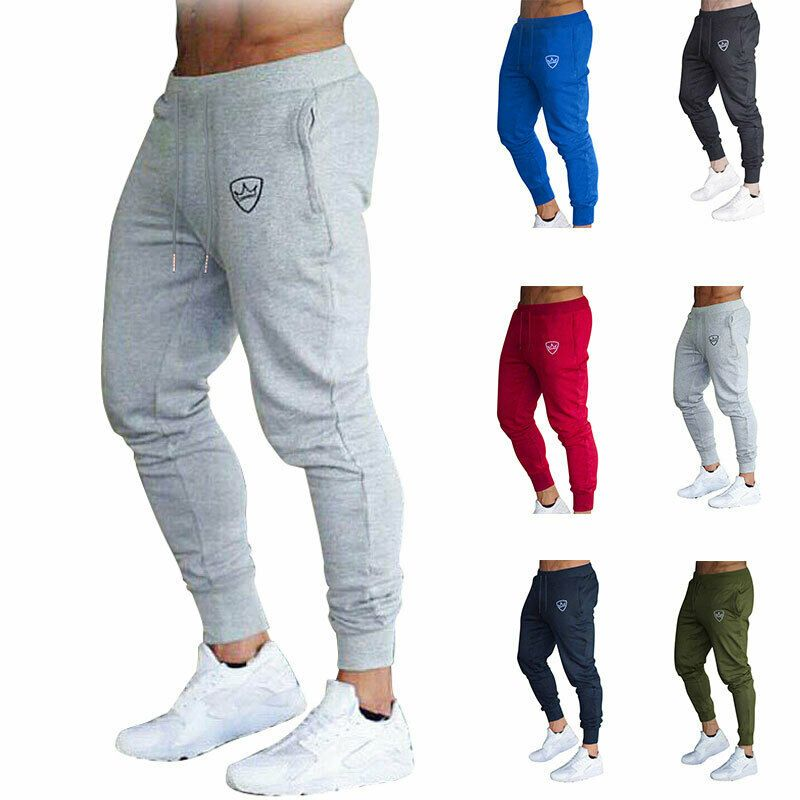 Men/'s Slim Fit Tracksuit Sport Gym Skinny Jogging Joggers Sweat Pants Trousers