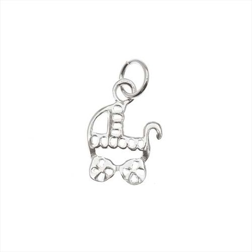 STERLING SILVER FANCY BABY CARRIAGE CHARM 13MM 1 from beadaholique.com