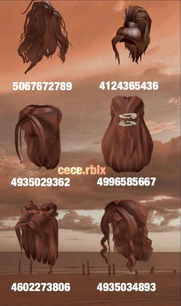 brown hair roblox id