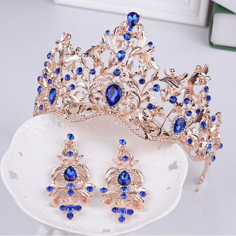 Vintage Baroque Wedding Bridal Jewelry Crystal Crown Tiara Headbands Accessories | eBay