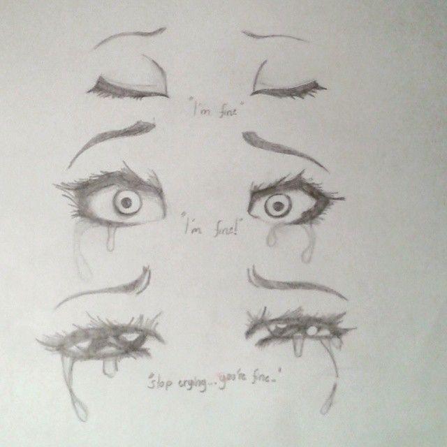 Drawing Crying Eye Sad On Instagram Draw In 2019 Drawings Sad