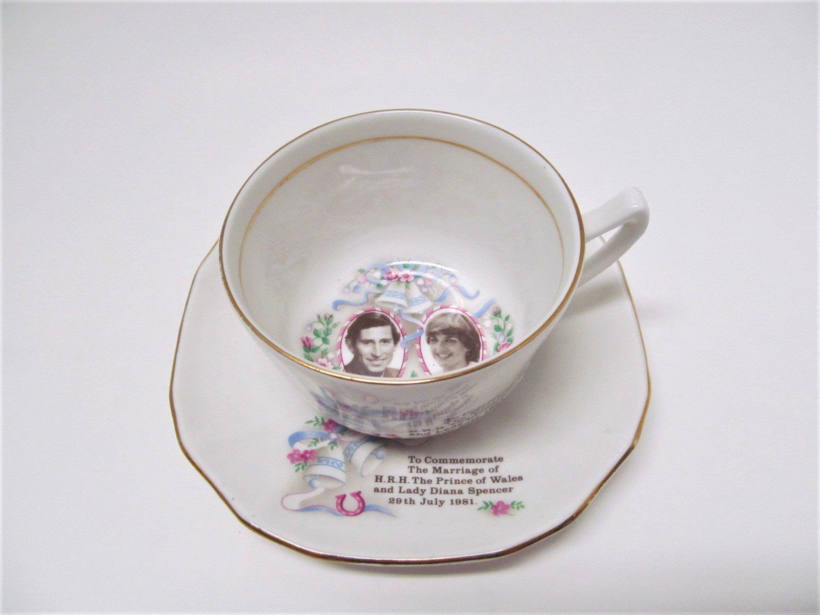 Vintage Prince Charles and Lady Diana Souvenir Cup and