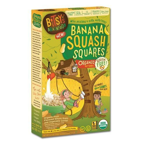 Bitsy's Brainfood Banana Squash Cereal (6-boxes x 6.7Oz each)