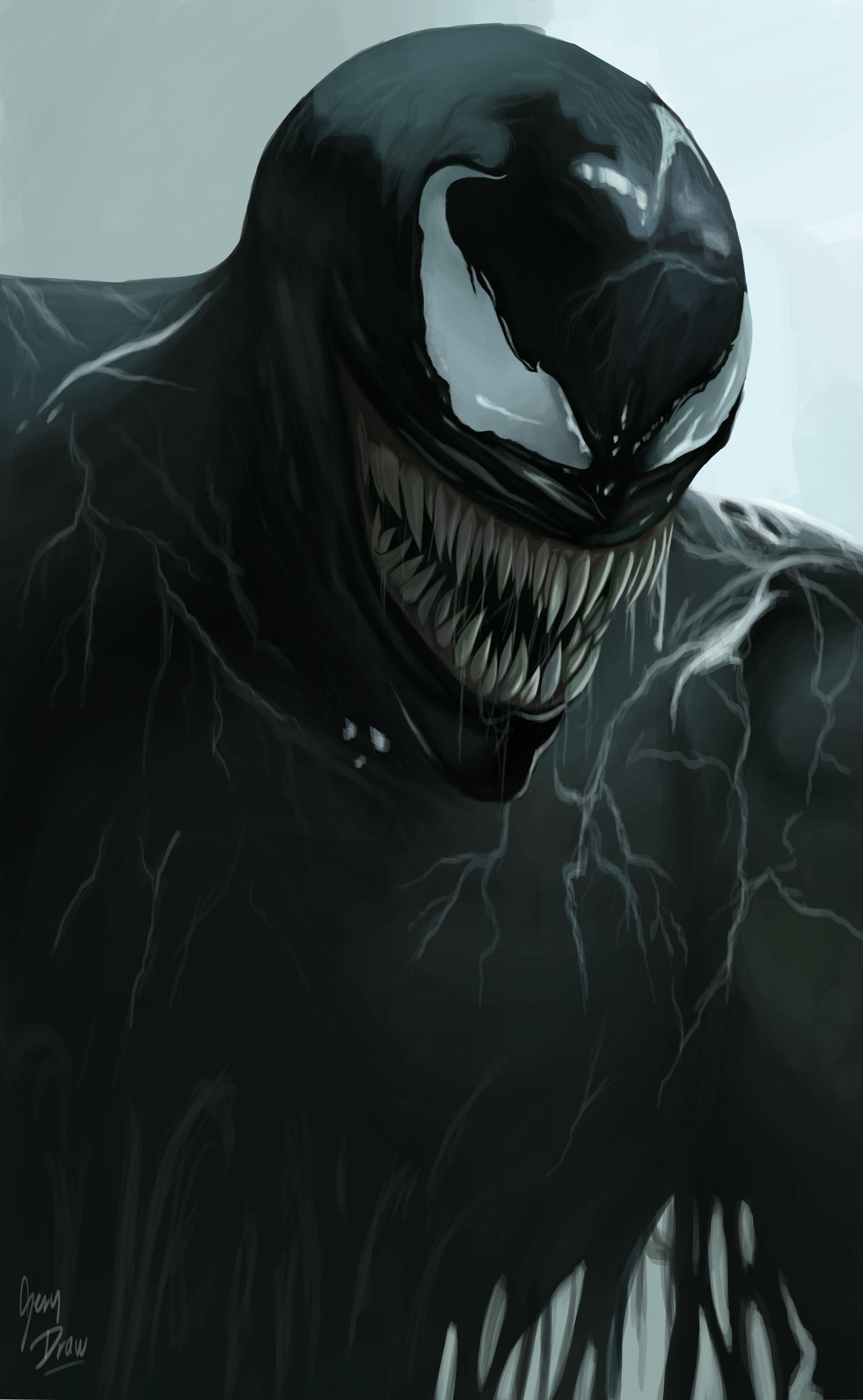 Venom Realistic Portr Digitlis Rajzok