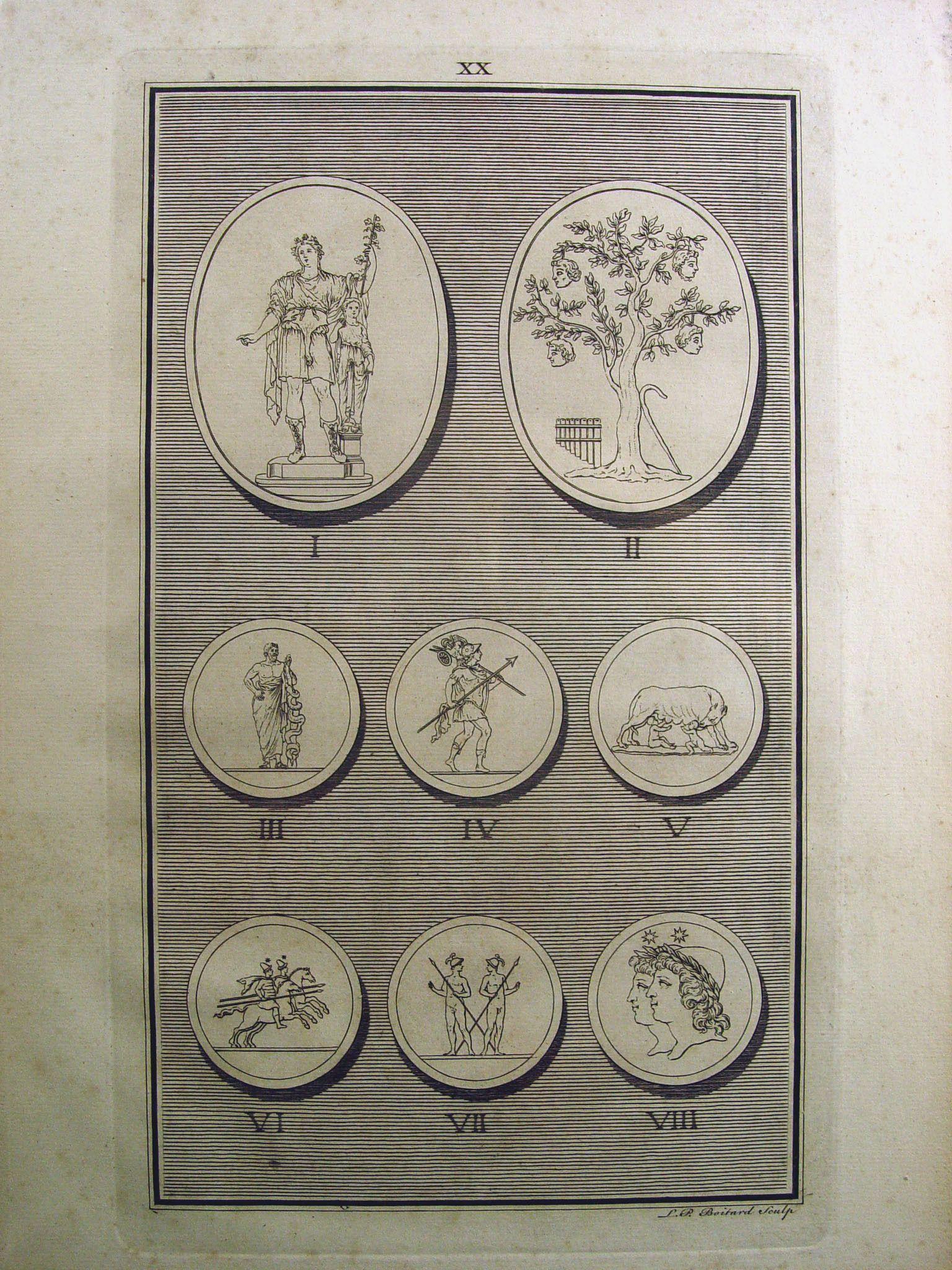 1755 Engraving of Roman Medallions