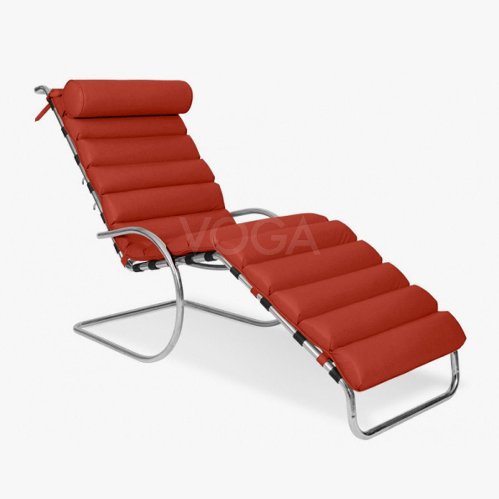 Design Ligstoel Leer.Mies Van Der Rohe Ligstoel Van Premium Leder Huisideeen