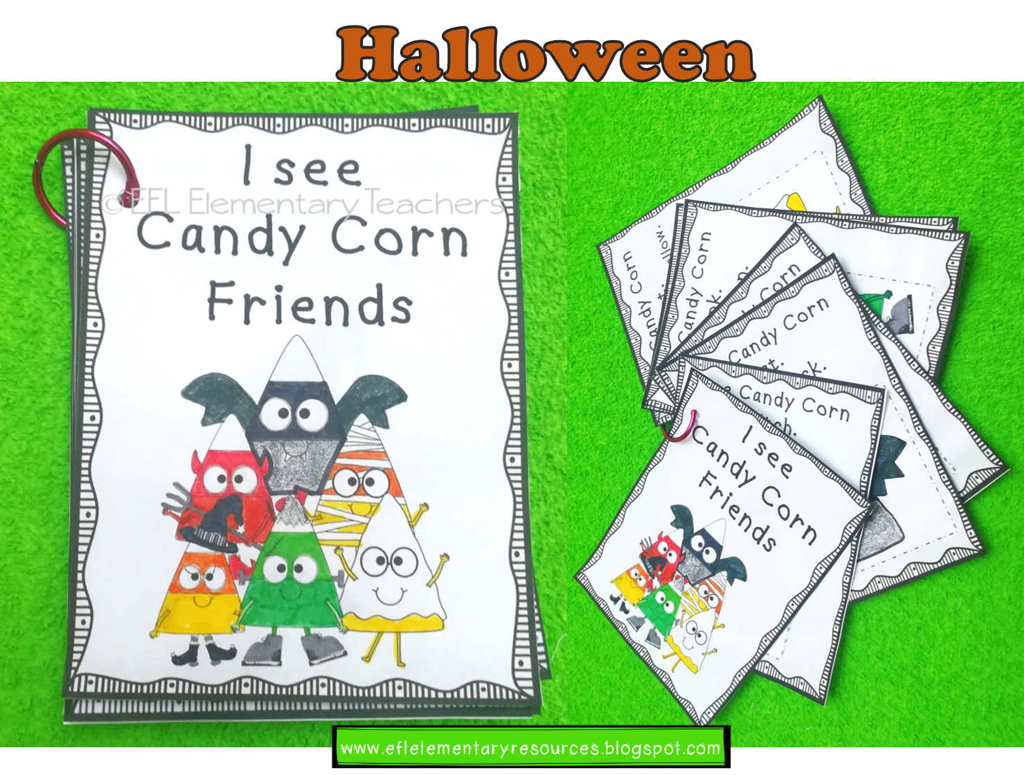 Halloween Candy Corn Friends For Elementary Ell