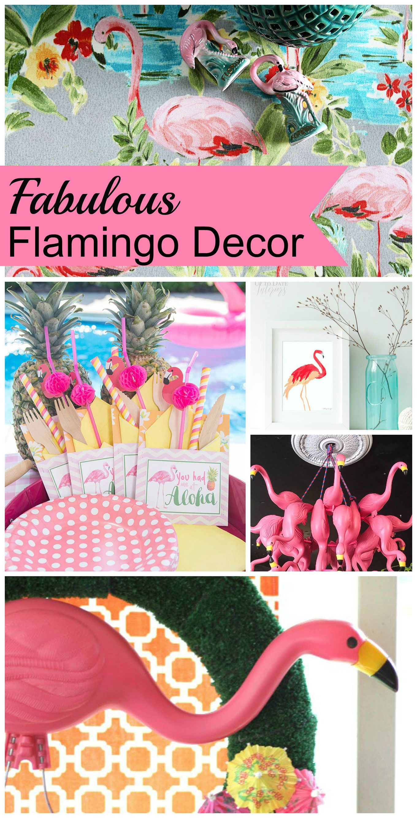 Pink Flamingo Decor And Diy Project Ideas For Slightly Kitschy Always Fun Home Is Hot Summer Patio Also