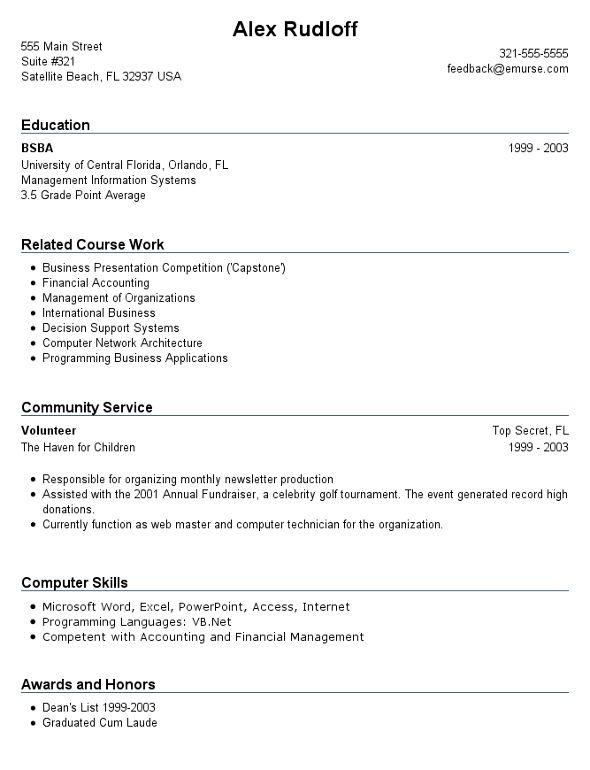 Job Application Job Resume Template