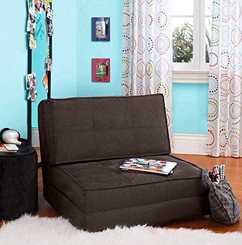 Your Zone Flip Chair Convertible Sleeper Dorm Bed Couch