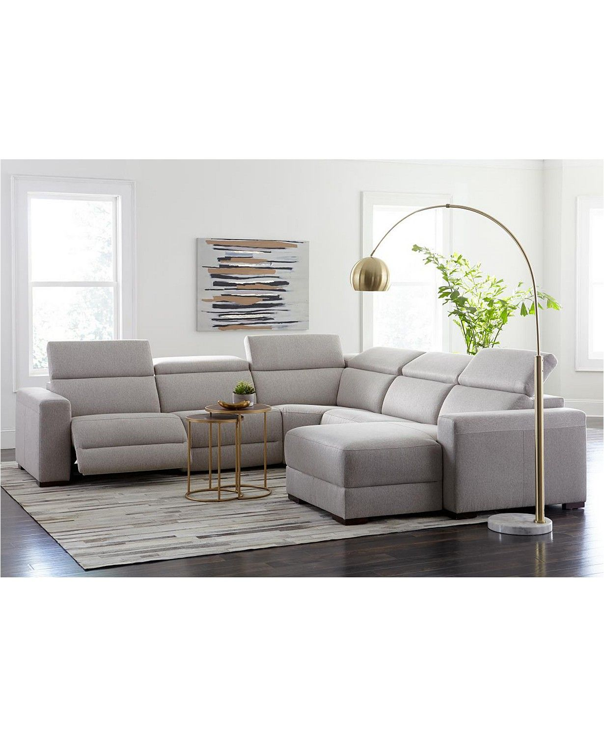 Furniture Nevio Leather Power Reclining Sectional Sofa With Articulating Headrests Collection Created For Macy S Reviews Furniture Macy S In 2020 Power Reclining Sectional Sofa Sectional Sofa With Chaise Reclining Sectional
