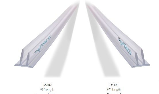 Frameless Shower Door Seals Ds100 Comes Pre Taped Or The Seal Adheres With Our Ds200 Doubl Shower Door Seal Frameless Shower Door Seal Frameless Shower Doors