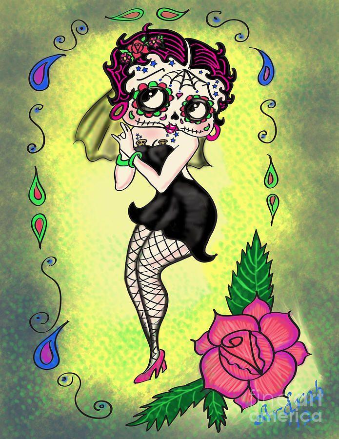 Viva la muerto betty boop | Diaz de los muertos | Pinterest | Betty boop
