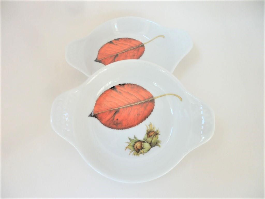 Gratin Dish Royal Worcester Wild Harvest Pair Fine Porcelain Quality  Vintage Oven To Tableware