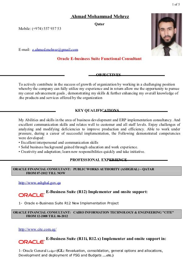 Oracle Financial Consultant Resume - http\/\/topresumeinfo\/2015\/02 - sql server resume