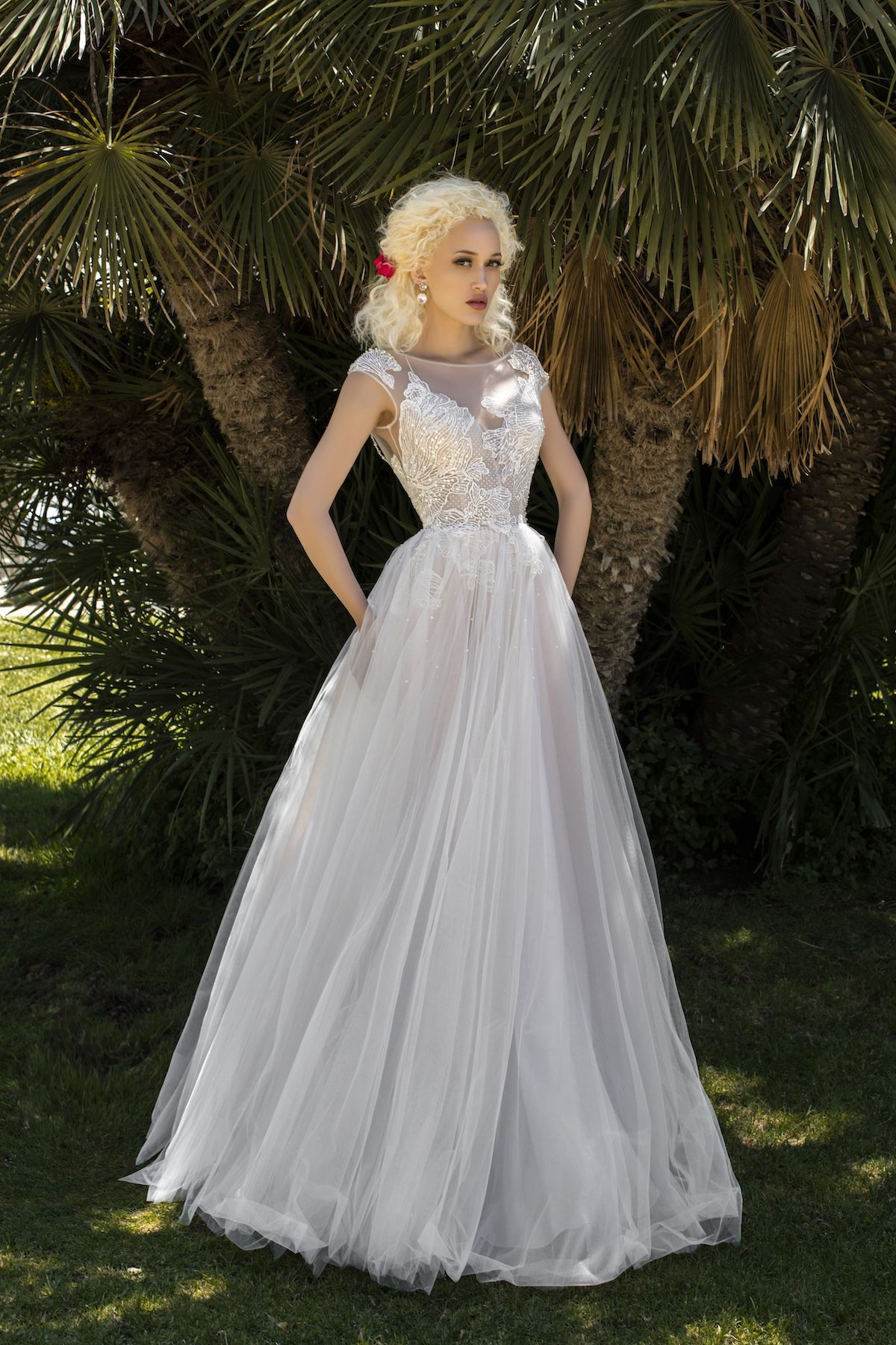 Beautiful ALine wedding dress from Jacqueline's Bridal in