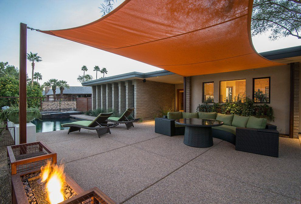 16 Exceptional Mid Century Modern Patio Designs For Your Outdoor Spaces Modern Patio Design Pool Patio Designs Modern Backyard