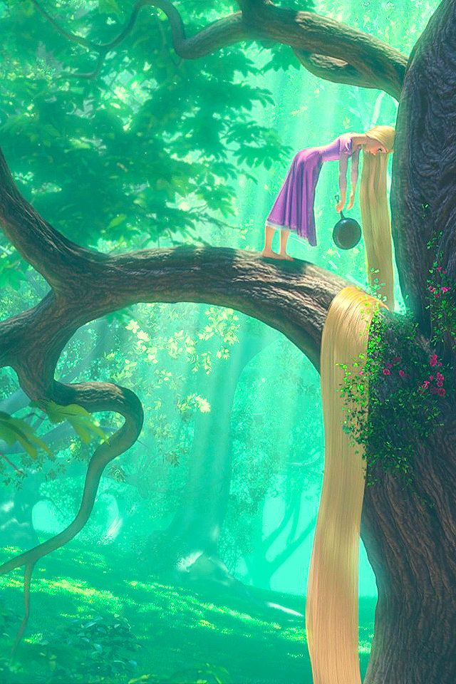 ...rapunzel with her frying pan, in a tree, with her long, long, long, long....