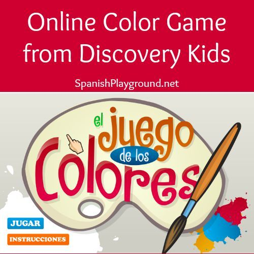 Spanish Color Game Online Activity From Discovery Kids Espanol