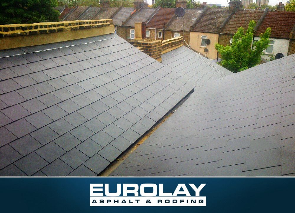 Artifical Slate Roof Laid By Eurolay Asphalt And Roofing Make Your Home Design Dreams Come True Read Reviews Of 1000s Of T Roofing Damp Proofing Roofing Jobs