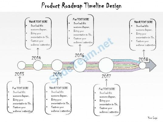 Business Ppt Diagram Product Roadmap Timeline Design