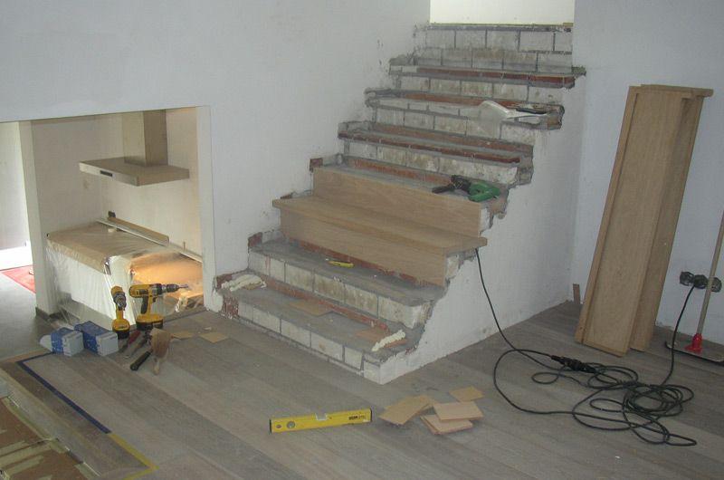 Betonnen trap bekleden trappen idee deco en deco