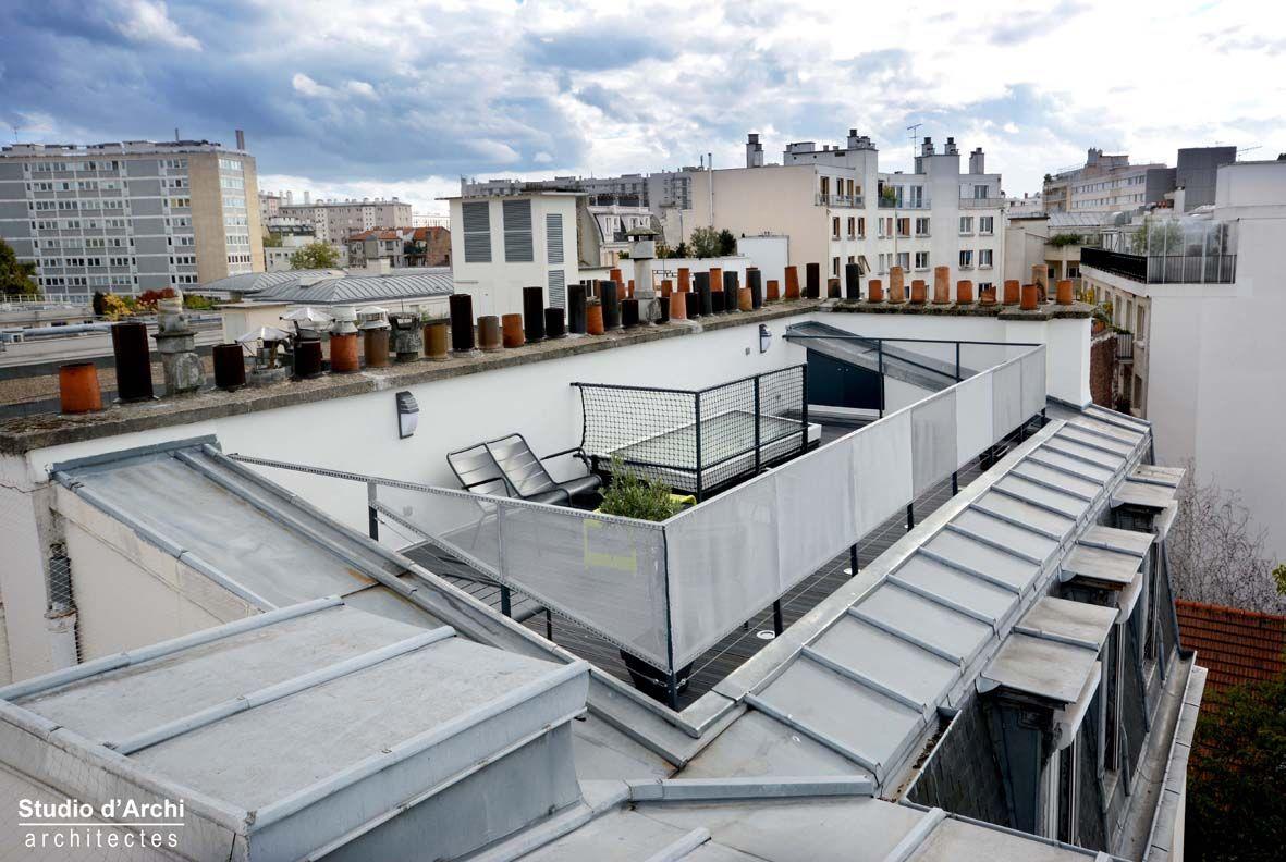 Creer Une Terrasse Tropezienne un duplex avec terrasse sur les toits de paris | terrasse