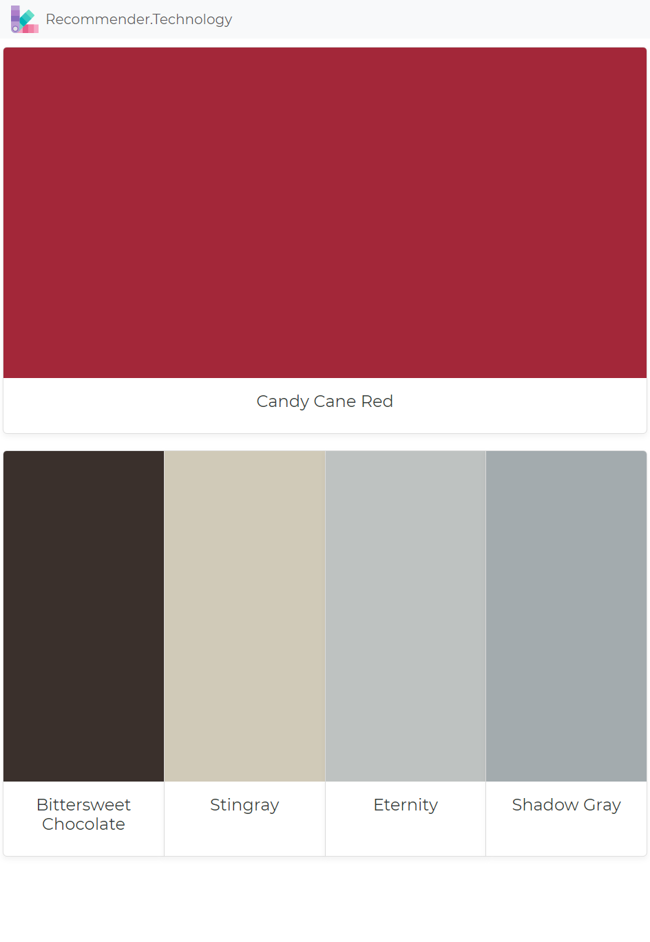 candy cane red bittersweet chocolate stingray eternity on benjamin moore interior paint chart id=21843