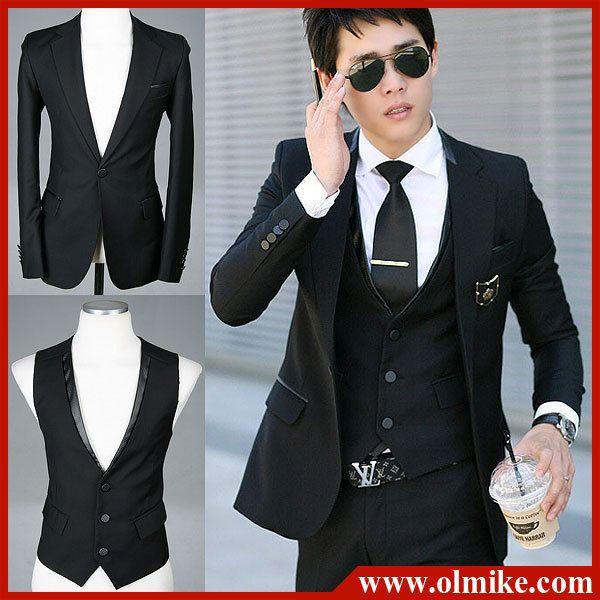 New fashion Men's business suit Set New style slim fit suits one ...