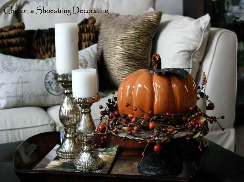 Creative Coffee Table Decorating Ideas With Candle Holder Fallintoautumn Fall Coffee Table Decorating Coffee Tables Creative Coffee Table