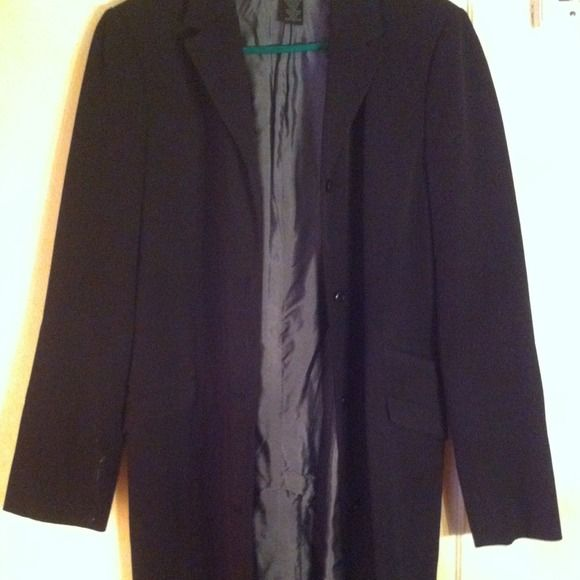 """THE LIMITED Black Trenchcoat Black Trenchcoat. Slit in back as shown in picture. small slit on sleeves as shown as well. I'm 5,8"""" and it sis right at my knees The Limited Jackets & Coats"""
