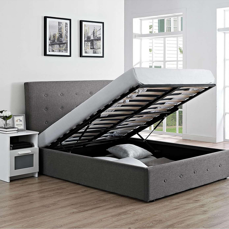 Chanel Grey Storage Bedstead | Dunelm | My House NOW bedroom ...