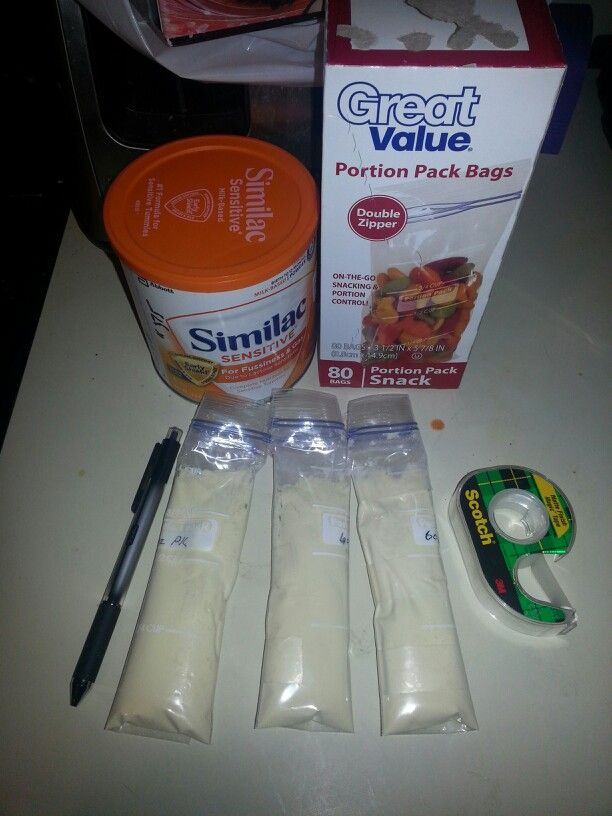 Made My Own On The Go Packs For Similac Sensitive Formula With