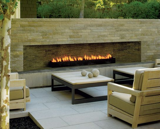 Pin by Home Landscaping Ideas on Best Shopping Time  Outdoor gas fireplace Contemporary