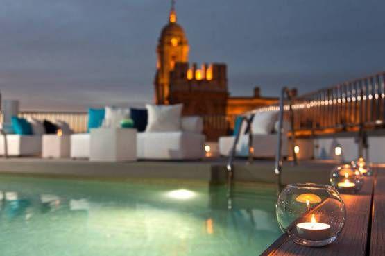 Piscina Lounge Del Hotel Molina Lario Málaga Hoteles