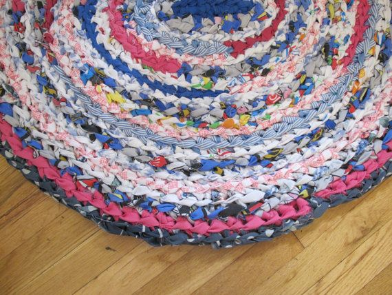 Crochet Rag Rug By Rebekahshaddy On Etsy