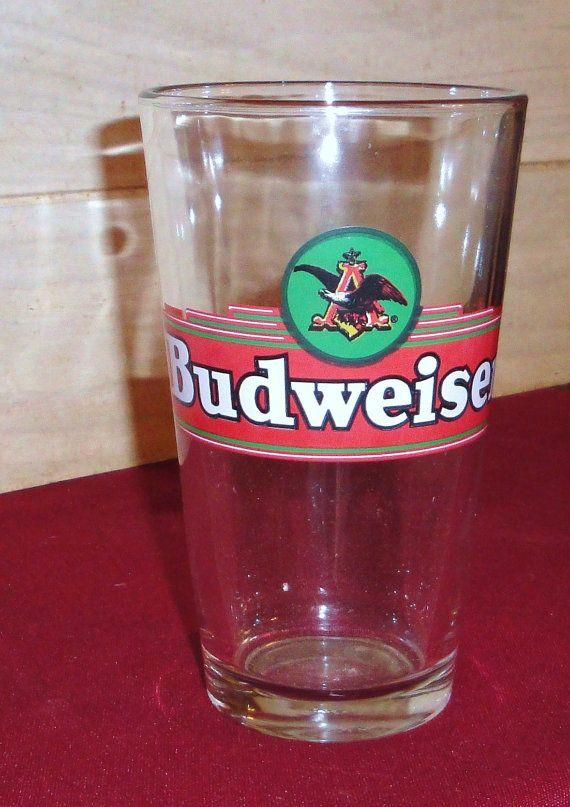 Budweiser Pint Retro Wing Design Eagle Logo Beer by MuzettasWaltz, $8.00