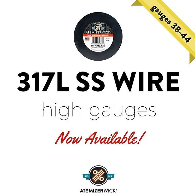 Now available! High gauge 317L SS wire, gauges 38, 40, 42, and 44 ...