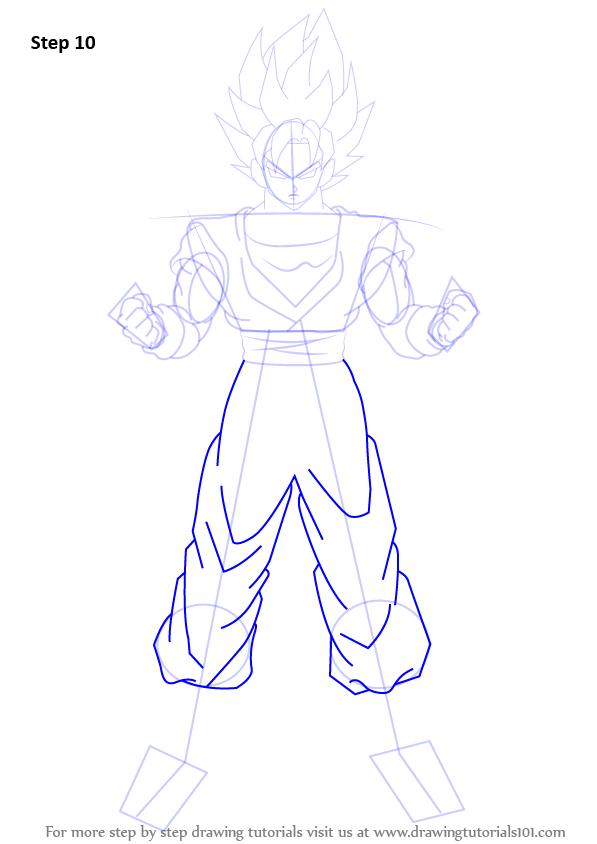 Learn How To Draw Goku Super Saiyan From Dragon Ball Z Dragon Ball Z Step By Step Drawing Tutorials Figuren Zeichnen Anime Figuren Zeichnen Einfach