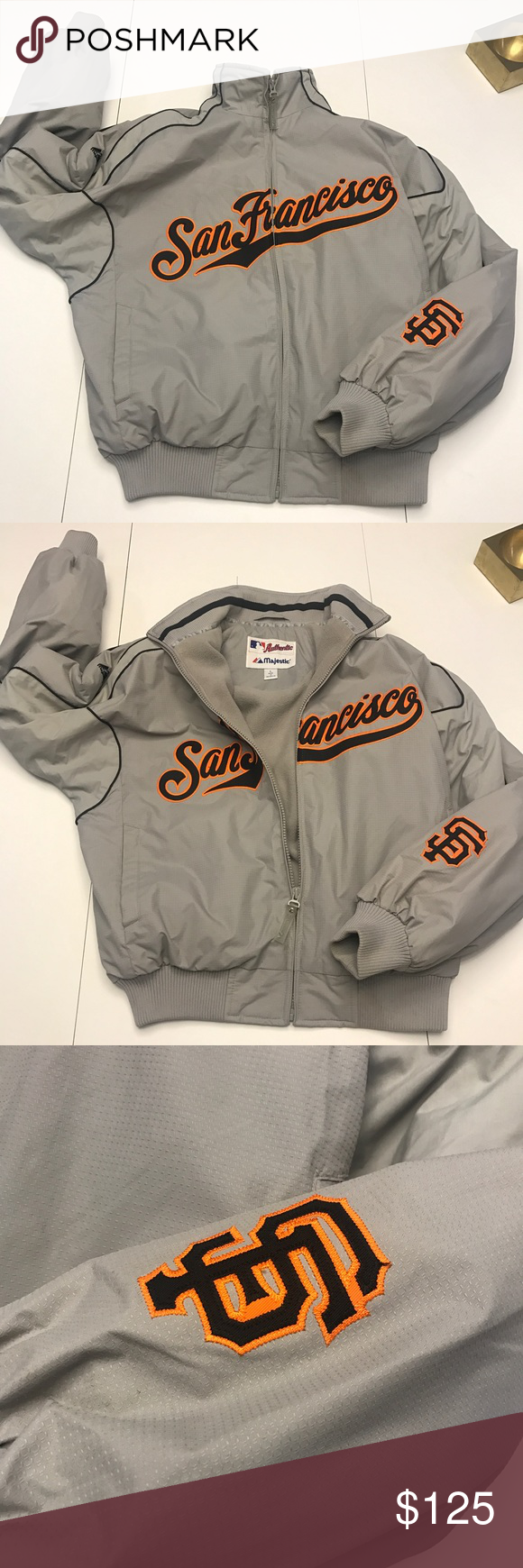 quality design ca6eb e5cf2 SF Giants Majestic Authentic Collection Jacket SF Giants ...